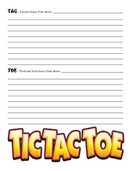 TIC - TAC - TOE - Reading Activity for any Subject