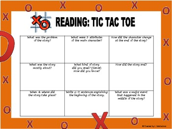 TIC TAC TOE: Reading Comprehension for Fiction & Non-Fiction
