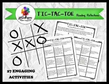 TIC-TAC-TOE Reading Reflections Activities