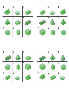 Three-Dimensional Shapes Tic Tac Toe