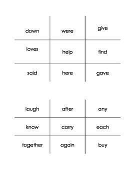 TIC TAC TOE Sight Word Style!