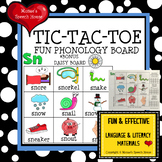 TIC TAC TOE Speech Therapy GAME BOARDS FREE NO PREP