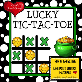 TIC TAC TOE  St. Patrick's Day FREE GAME BOARDS