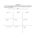 TIC TAC TOE to Solve One Step Equations