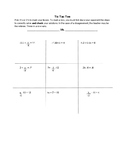 TIC TAC TOE to Solve Two Step Equations
