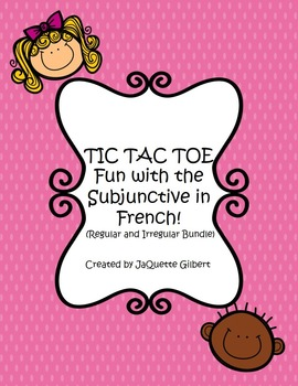 TIC TAC TOE with the Subjunctive Bundle (2 sets!)