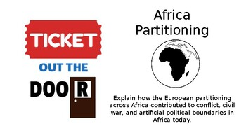 TICKET OUT THE DOOR AFRICA PARTITIONING SS7H1.A
