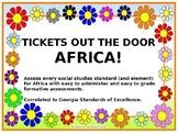 7th Grade Georgia Social Studies -- Africa Exit Tickets