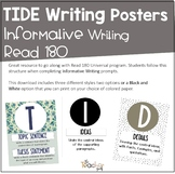 TIDE Writing Posters   Informative Writing   Read 180