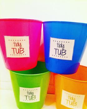 TIDY TUB LABELS!
