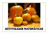 TIEMPO DE CALABAZAS. ACTIVIDADES MATEMÁTICAS
