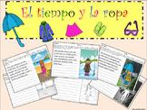 TIEMPO Y ROPA (ESCRITURA, VOCAB. Y GRAM. INTEGRADOS) WEATHER, CLOTHES SPANISH