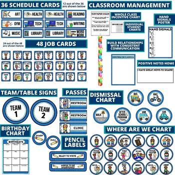 TIFFANY BLUE Classroom Decor EDITABLE