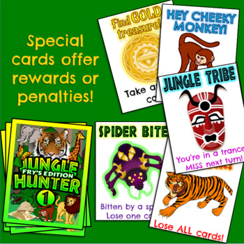 JUNGLE HUNTER (Fry's words set 1) - A Fun High Frequency Sight Word Card Game