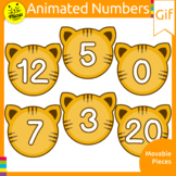 TIGER NUMBER TILES ANIMATED GIF CLIP ART