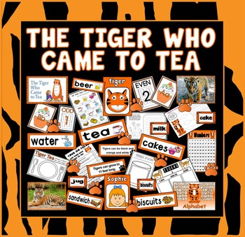 TIGER WHO CAME TO TEA STORY RESOURCES EYFS KS1 ENGLISH MOR