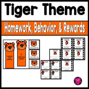 Punch Cards Behavior Rewards and Homework TIGERS