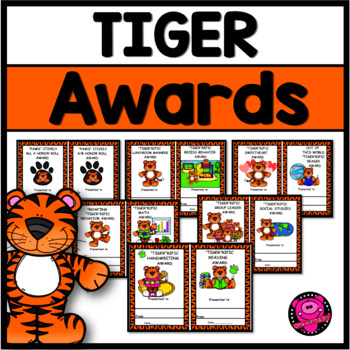 End of Year Student and School Tiger Theme Awards