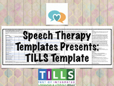 TILLS Template | Speech Therapy Assessment