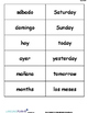 TIME AND DATE VOCABULARY LIST WITH FLASHCARDS (SPANISH)
