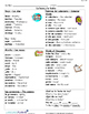 TIME AND DATE VOCABULARY LIST WITH FLASHCARDS (SPANISH 201
