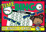 TELLING TIME TO THE QUARTER HOUR BINGO GAME