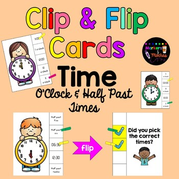 TIME Clip & Flip Task Cards