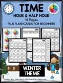 TIME - HOUR & HALF HOUR - WINTER THEME