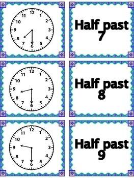 TIME MEMORY MATCH-Analog & Digital-Hour,Half Hour,Quarter Hour, 5 Min. Intervals