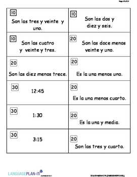 TIME REVIEW 12 HOUR (SPANISH)