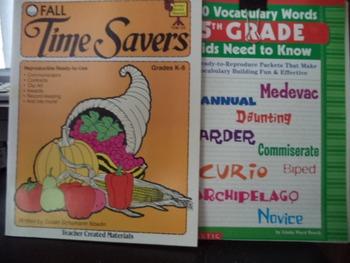 TIME SAVERS 5TH GRADE VOC   CLIP ART  (set of 3)