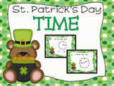 St. Patrick's Day Time (Quarter Til and Past) Task Cards