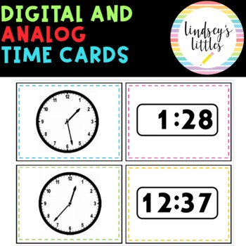 TIME TASK CARDS ANALOG DIGITAL