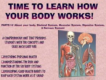THE HUMAN BODY SYSTEMS UNIT: PARTS I-V