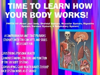 THE HUMAN BODY SYSTEMS UNIT: PARTS I-VI