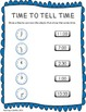 TIME TO TELL TIME:  Time Telling Printables to the hour and half hour