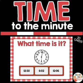 TIME TO THE MINUTE - digital resource - BOOM CARDS