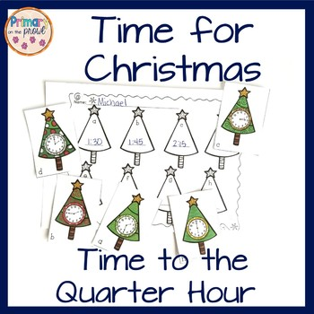 TIME for Christmas- Time to the quarter hour