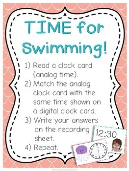 Ocean Telling Time Math Center