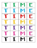TIME letter cards