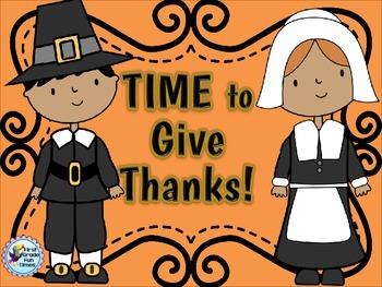 Thanksgiving Math Telling Time