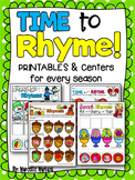 Rhyming Activities and worksheets-TIME to RHYME- Rhymes for every Season