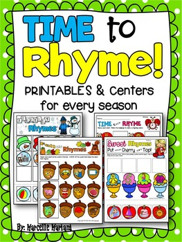 Rhyming Activities and Printables-TIME to RHYME- Rhymes fo