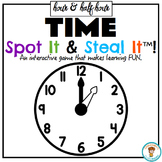 TIME to the Hour and Half Hour SPOT IT & STEAL IT MATH GAME