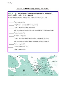 TIMELINE Activity- Ancient Rome & Greece