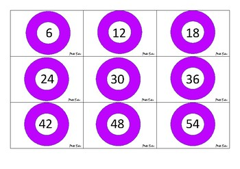 TIMES TABLE MEMORY GAME
