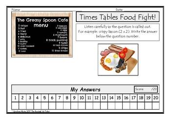 MULTIPLICATION  2-12 * FREE game * fun worksheet whole class, group, individual.