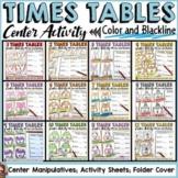 TIMES TABLES CENTERS BUNDLE: MULTIPLICATION (1-12)
