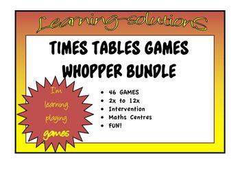 TIMES TABLES GAMES - WHOPPER BUNDLE - 46 games