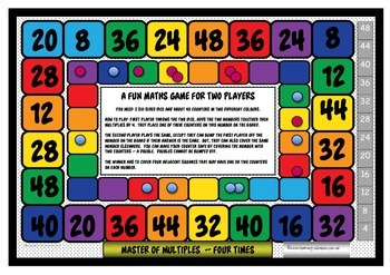 TIMES TABLES - MASTER OF MULTIPLES - 4x - FREEBIE